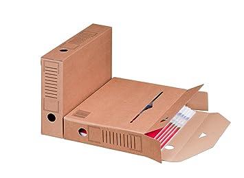 Smartbox Pro - Juego de cajas archivadoras (base automática, 25 unidades), color marrón: Amazon.es: Oficina y papelería