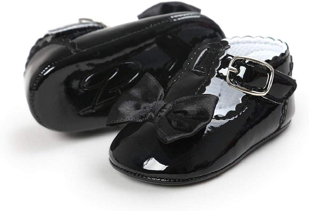Zapatos Beb/é Ni/ña 2019 SHOBDW Zapatos De Princesa Dulce Pisos Zapatos Cuna Suela Suave Antideslizante Zapatillas Zapatos Lindos del Bowknot Primeros Pasos Zapatos Beb/é Reci/én Nacida