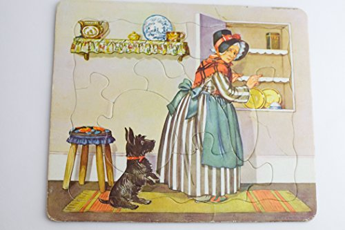 Old Lady Looking in Her Cupboard with a Black Dog (Old Mother Cupboard)