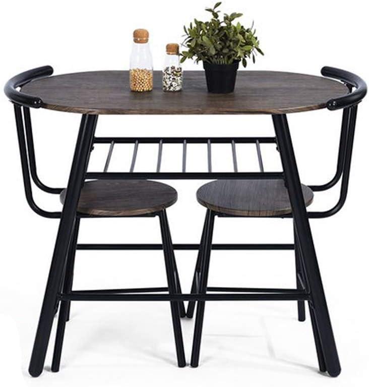 FURNITURE-R Francia Juego de sillas de mesa de desayuno – 2 personas ahorro de espacio, compacto, mesa de comedor y sillas de cocina: Amazon.es: Hogar