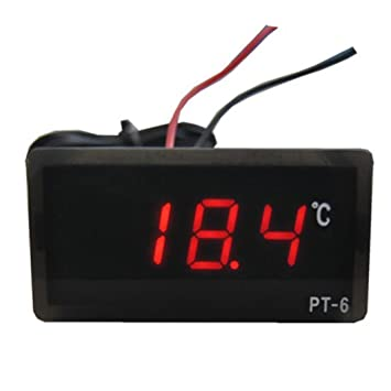 Malloom DC 12V -50℃~110℃ Digital LED termómetro detector de temperatura rojo: Amazon.es: Hogar
