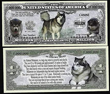 Year of the Dog Lot of 2 Bills Dog Million Dollar Bill