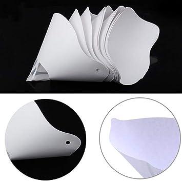 Impresora 3D 10pcs / lot Papel desechable Espesar embudo filtro de ...