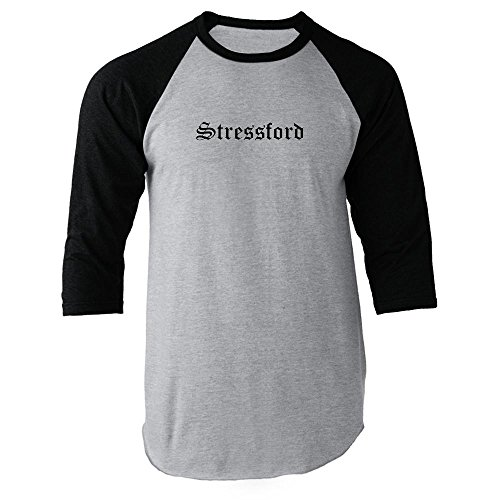 Pop Threads Stressford Black 3XL Raglan Baseball Tee -
