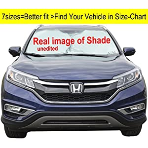 A1 Windshield Sun Shades A1+30031 for Car/SUV/Truck/Minivan, Ultra-Premium 230T Nylon Hassle, UV Ray Reflector Sunshade Your Vehicle Cool and Damage Free