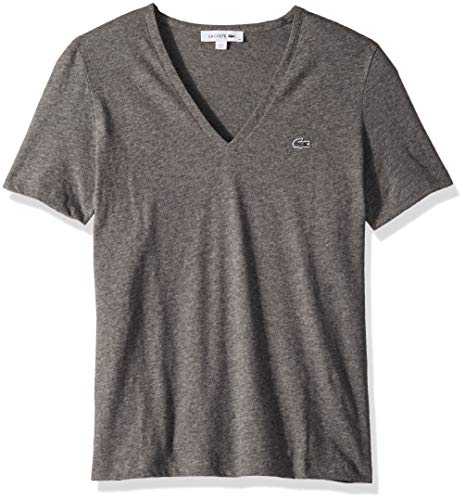 d62eb2f98 Galleon - Lacoste Women's Short Sleeve Classic Supple Jersey V-Neck T-Shirt,  TF8908, Stone Chine, 4