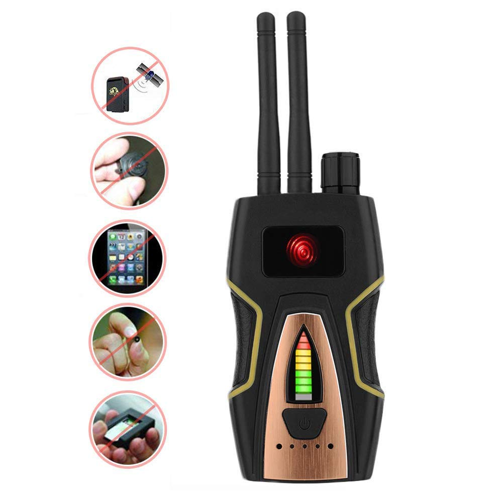 YTBLF Anti-spyware RF Detector, Wireless Signal Detector, GSM Audio Detector/GPS scanning Detector with Anti-spyware Detector with Large Detection Frequency Range.