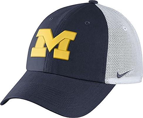 Nike Hombres de Michigan Wolverines Azul/Blanco Heritage86 ...
