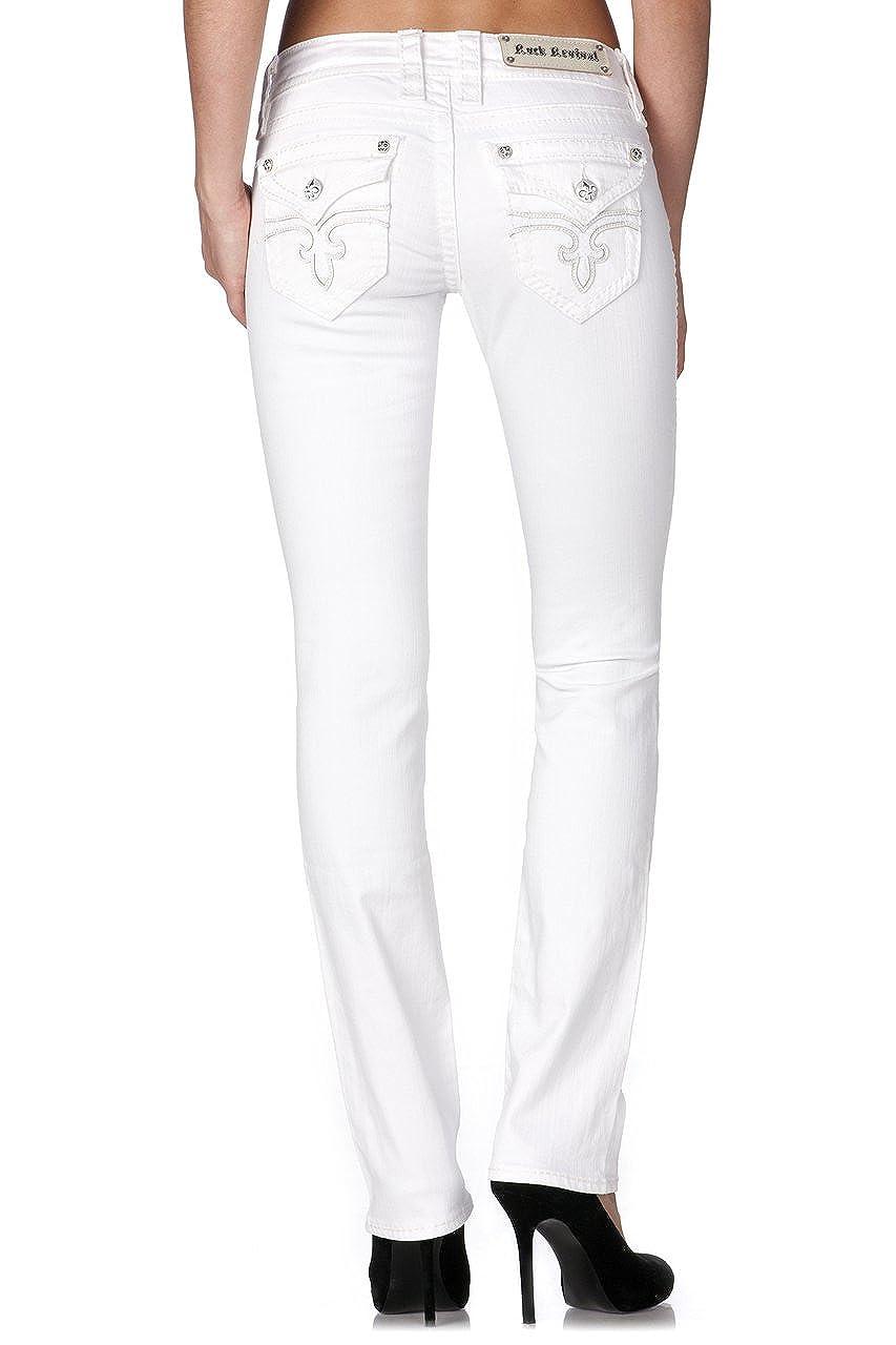 6bfa49f7f4f922 Rock Revival - Womens Noelle Straight Jeans