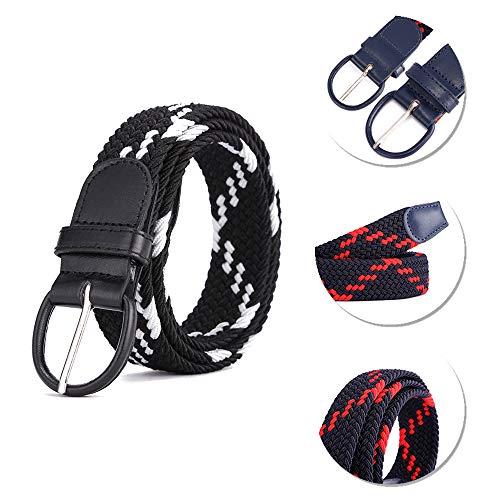 Tessere Bozevon Intrecciata Fibbia Tip In Elastica Stile Metallo Cintura Pelle 3 Con xxw4q1SO