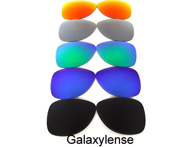 e87479878f Amazon.com  Galaxy Replacement Lenses For Oakley Dispatch 2 (Not 1) Sunglasses  Polarized Black Blue Green Titanium Red  Clothing