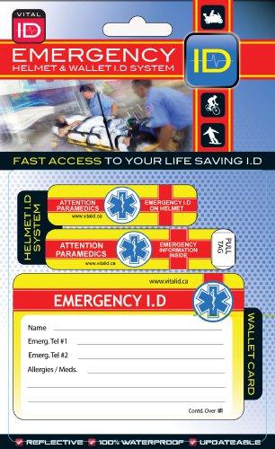 Sports Helmet Vital / Medical ID ~ Cycling and All Helmet Users