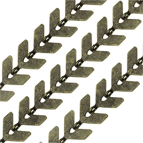 - Beadaholique Antiqued Brass Bulk Chain, Chevron Links 6.5mm, Sold by The Foot