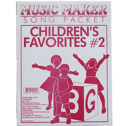 European Expressions Music Maker Song Packet Children's Favorites #2 - Music Maker Song Sheets