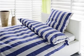 Bettwäsche 135x200 Blau Weiß Gestreift Amazonde Küche Haushalt
