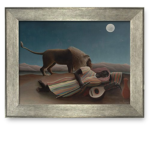 - Framed Art Prints - The Sleeping Gypsy (1897) by Henri Rousseau - Famous Painting Wall Decor - 16