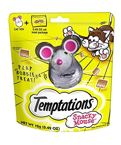 Whiskas Temptations Snacky Mouse Toy and Refills,  3 Oz. Sea