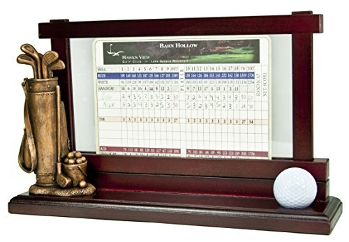 Clubhouse Collection Golf Gifts and Gallery Score Card Holder and Ball Holder   B01N413A2I
