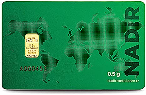Nadir Goldbarren 0 5 Gramm Lbma Zertifiziert Goldbarren 0 5 G 0 50 Gramm Feingold 999 9 Geblistert Scheckkartenformat Nadir Gold Amazon De Spielzeug