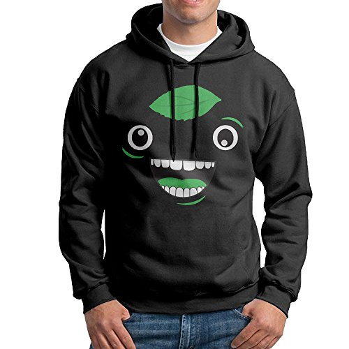 LOVEGIFTTO Mens Guava Juice Logo Hoodie Sweatshirts Black - Rogen Style Seth