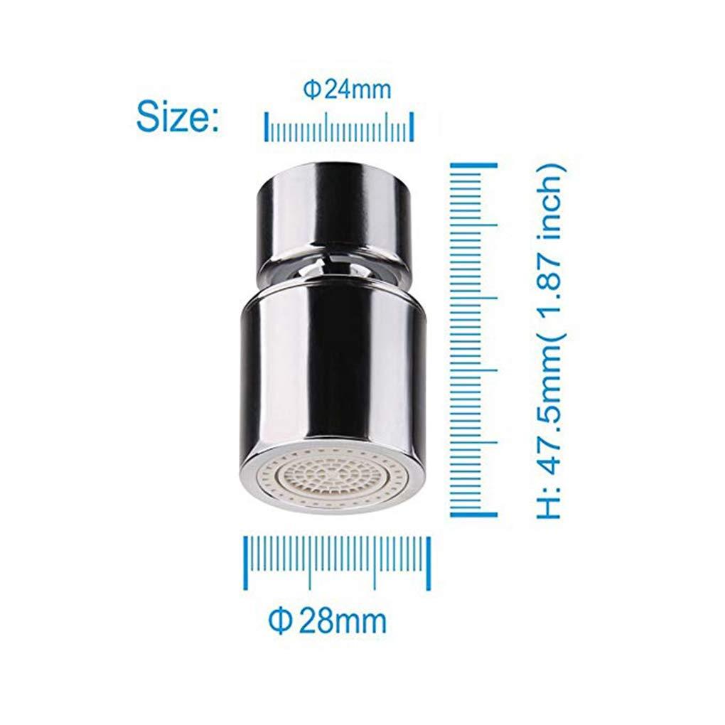 Lorjoyx Funci/ón de Cobre Certificado de Doble Flujo 2 Fregadero de Cocina aireador Giro de 360 Grados del Grifo pulverizador