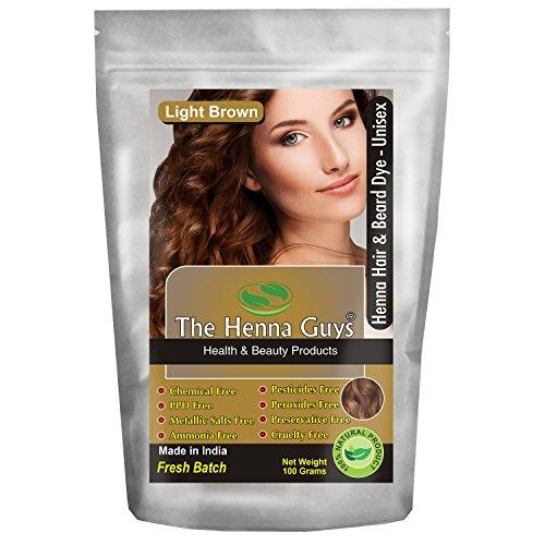 1 Pack Light Brown Henna Hair & Beard Dye / Color - The Henna Guys