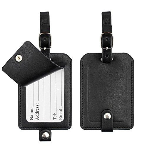 Luggage Tags, Galopar PU Leather Suitcase ID Tags Travel Luggage Baggage Handbag Tag Labels Travel Accessories (2 (Handbag Tag)