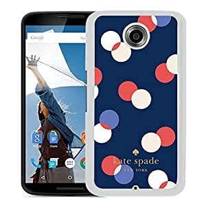 Beautiful DIY Designed Kate Spade Cover Case For Google Nexus 6 White Phone Case 283