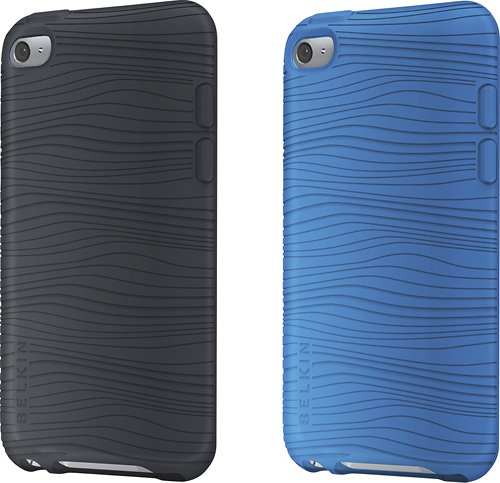 Belkin Grip Groove Duo Silicone Sleeve Cases for iPod Touch 4G, 2 Pc-Blue/Black Belkin Textured Silicone Sleeve