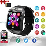 Smartwatch, Bluetooth Smart Watch Sleep Monitor Touch Screen with SIM & SD Card Band with Pedometer Compatible with Android/iOS/Samsung/Huawei/HTC/Sony/Nexus Men Women(Silver)