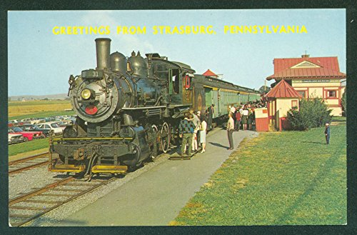 (Strasburg Railroad Amishland Lancaster County PA Train Rides Postcard)