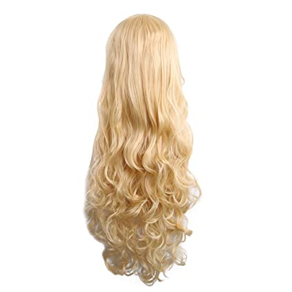 Long Smooth Wavy Curly Fluffy Natural Looking Full Wig for Women,Huphoon 1PC High-