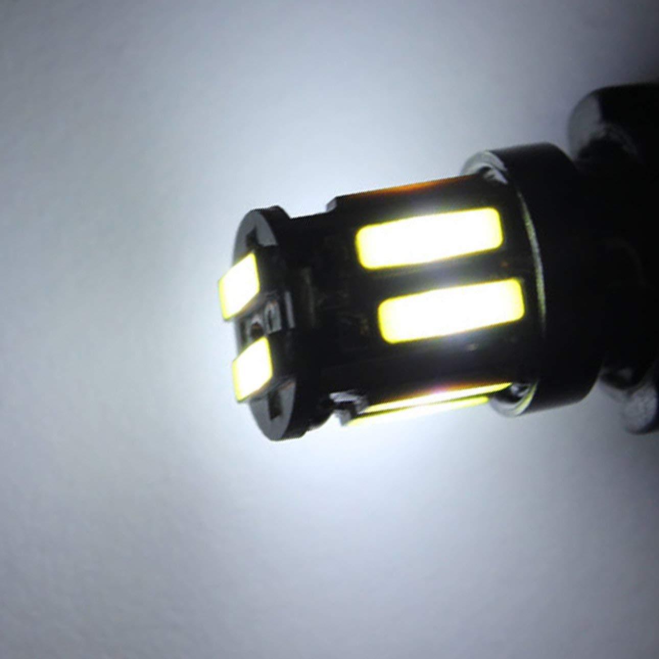 Pudincoco multifunci/ón T10 7020 10pcs LED l/ámpara Ancho luz Auto Led l/ámparas de conducci/ón