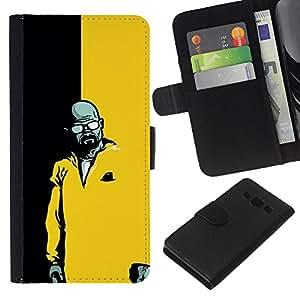 JackGot ( Blanca Breaking Meth ) Samsung Galaxy A3 la tarjeta de Crédito Slots PU Funda de cuero Monedero caso cubierta de piel