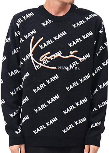 [カールカナイ] Karl Kani セーター ジャガード 総柄 3D ロゴ ニット 193K1403
