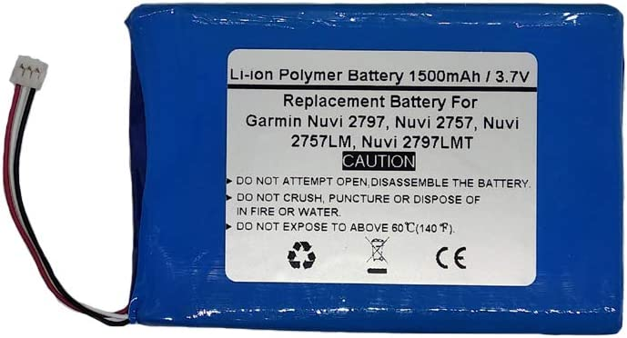 Nuvi 2757LM STARNOVO 3.7V 1500mAh Replace GPS Navigator Battery for Garmin Nuvi 2797 Nuvi 2757 Nuvi 2797LMT,361-00066-00