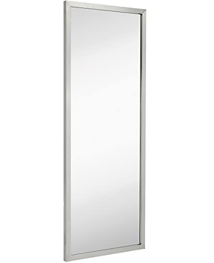 full length wall mirrors. commercial restroom full length wall mirror | contemporary industrial strength brushed metal silver rectangle mirrored mirrors s