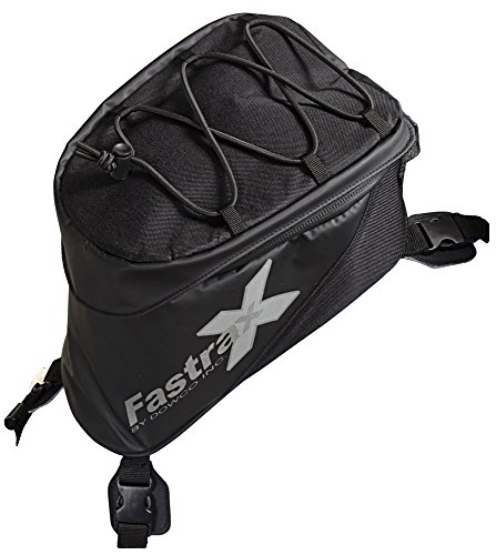 (Dowco Fastrax by 04739 Xtreme Series: Water Resistant Reflective Motorcycle Tank Bag, Black, 6 Liter Capacity)