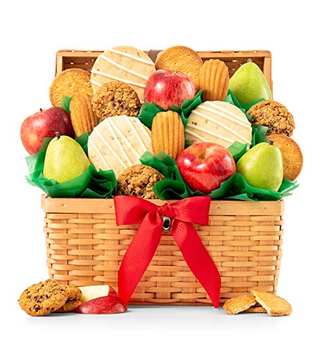 GiftTree Fresh Fruit and Gourmet Cookies Gift Basket | Premium Fresh Pears, Apples with Fresh Cookies | Perfect Gift for Birthday, Business, Thank You, Sympathy, Holiday or Any Occasion ()