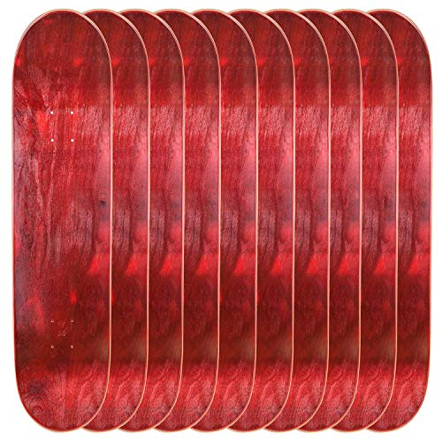 (Cal 7 Blank Maple Skateboard Decks (Bundle of 10) (8.5 inch, Red))