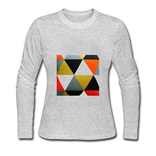 LucyLucy Rule Art Geometric Triangle Performance Comfort Funny Dry Hemline  Crew Neck Long Sleeve Women T b1b3d3519cd2