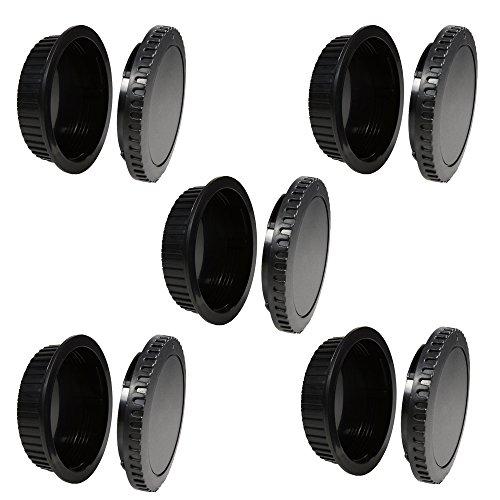 Rebel T1i Body (CamDesign 5 SET Camera Body Cap & Lens Cover Cap Canon RF-3 for Canon EOS 6D Mark II/ 5D Mark IV III II, 5DS 5DR, 7D Mark II, 77D 6D 7D 80D 70D 60Da 60D SL1, T7i T6s T6i T5i T4i T3i T2i T1i XSi XT XTi)