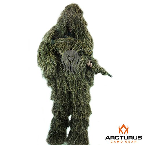 Best Ghillie Suit Ponchos - Arcturus Ghost Ghillie Suit (Woodland, Extra