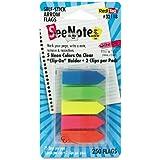 Redi-Tag 32118 SeeNotes Transparent Film Arrow Flags, Asstd Colors, 5 Pads of 50 Flags/Pack