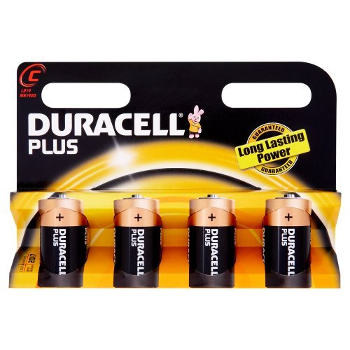 Duracell Plus Mn1400 Alkaline C Batteries - 4-Pack by Duracell