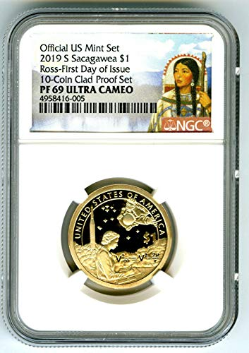 (2019 S SACAGAWEA PROOF FIRST DAY OF ISSUE PORTRAIT LABEL Dollar PF69 UCAM NGC)