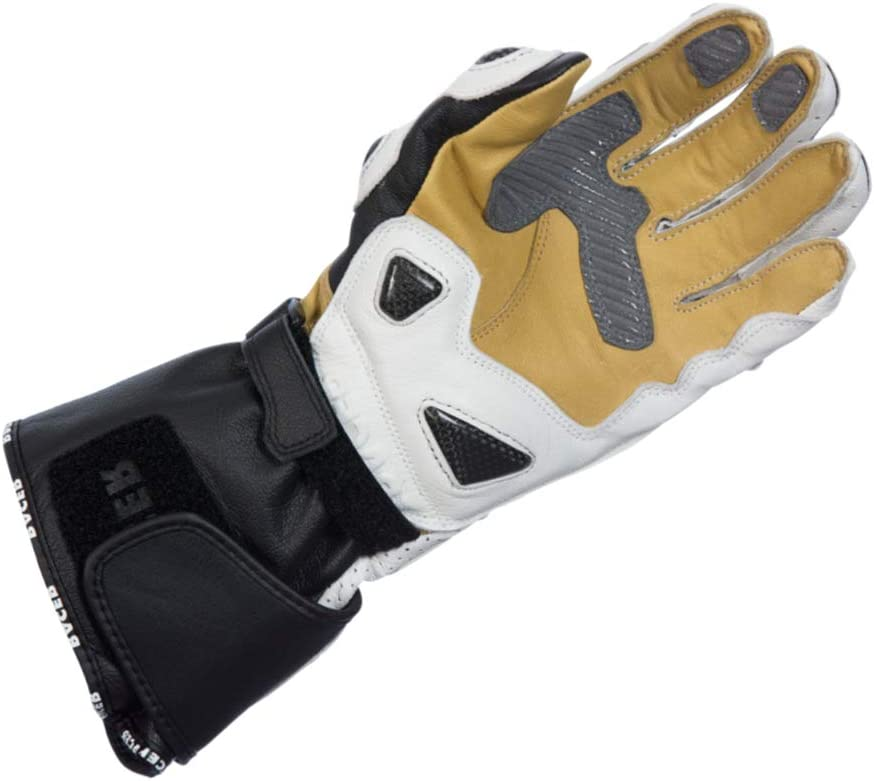 White Racer High Racer Motorbike Glove L