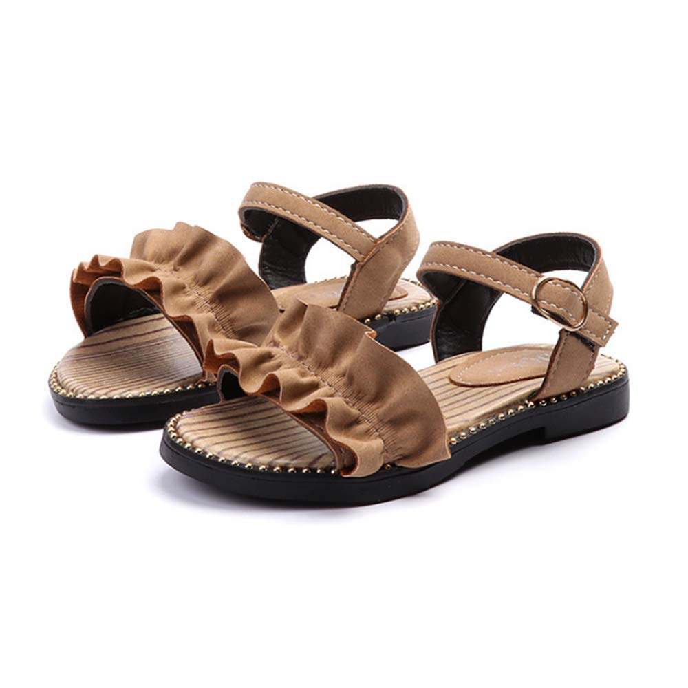 Irrech Little Girl Sandals Little Girl Princess Shoes Little Girl Open-Toe Velcro Joker Shoes