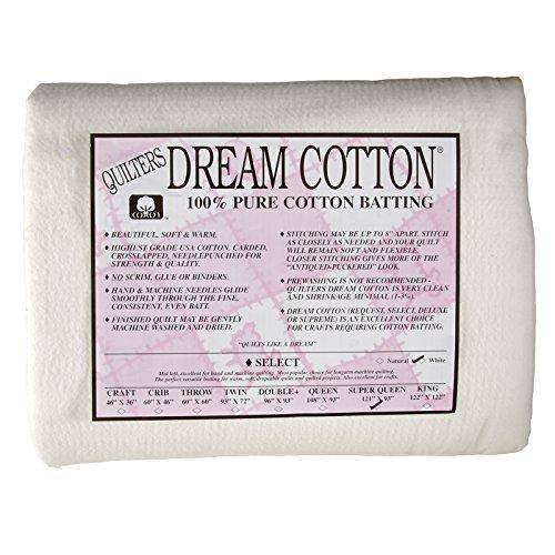 Quilter's Dream Natural Cotton White Select Batting (121'' x 93'') Super Queen (Request Batting)
