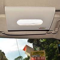 Autofurnish Car Sun Visor Tissue Holder Box with Free Tissues - Gray